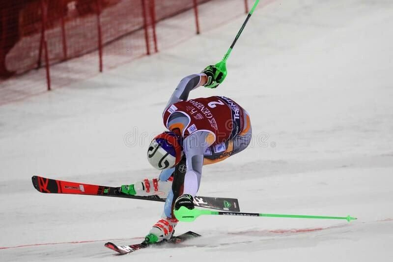 FIS AUDI World Cup - Slalom Men royalty free stock photo ,Ski FIS AUDI World Cup - Slalom Men royal