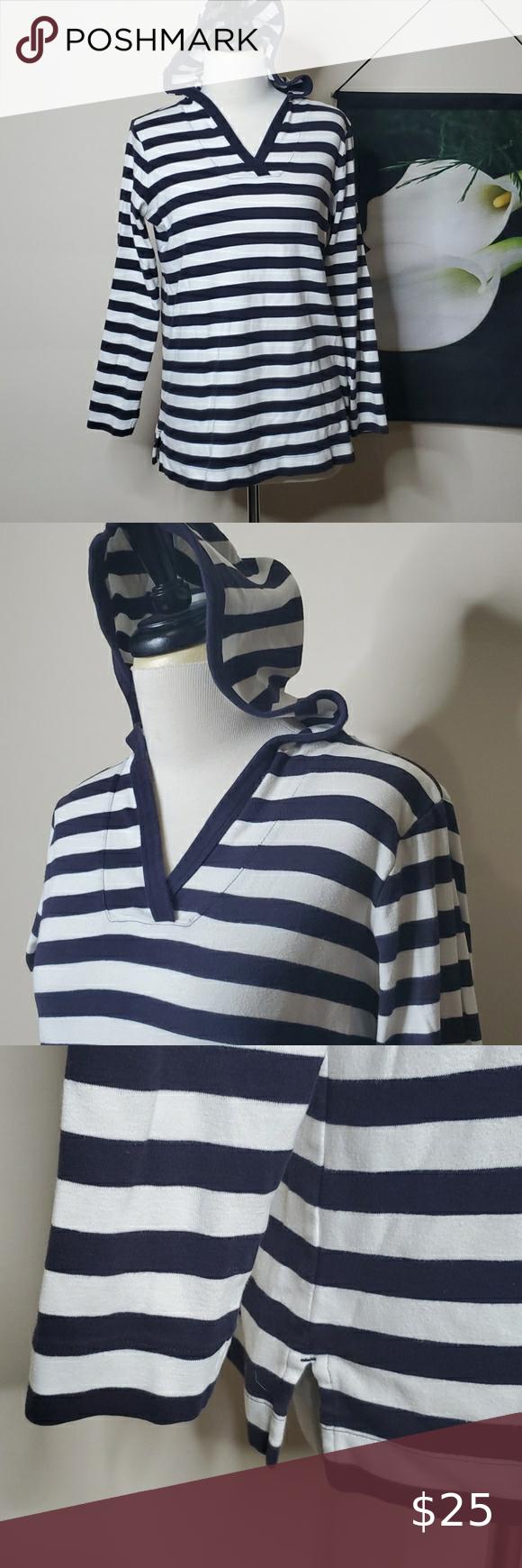 Lands End Striped Long Sleeve Hoodie In 2021 Striped Long Sleeve Long Sleeve Hoodie Fleece Jacket Womens [ 1740 x 580 Pixel ]