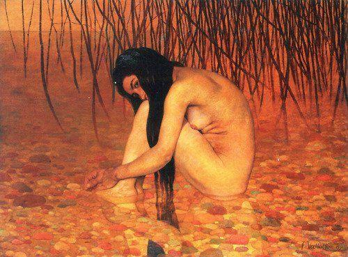 Felix Vallotton「The Bather」( (1895)