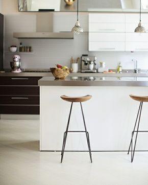Elegant Holz Barhocker Kleine Weiße Küche