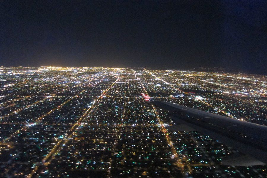 Los Angeles Plane View Night By Elodie50a Deviantart Com