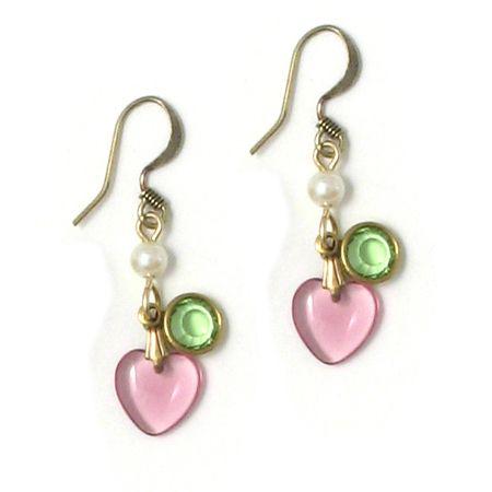 Anne Koplik Jewelry Colorful Pastel Petite Heart Earrings ~ $18.95