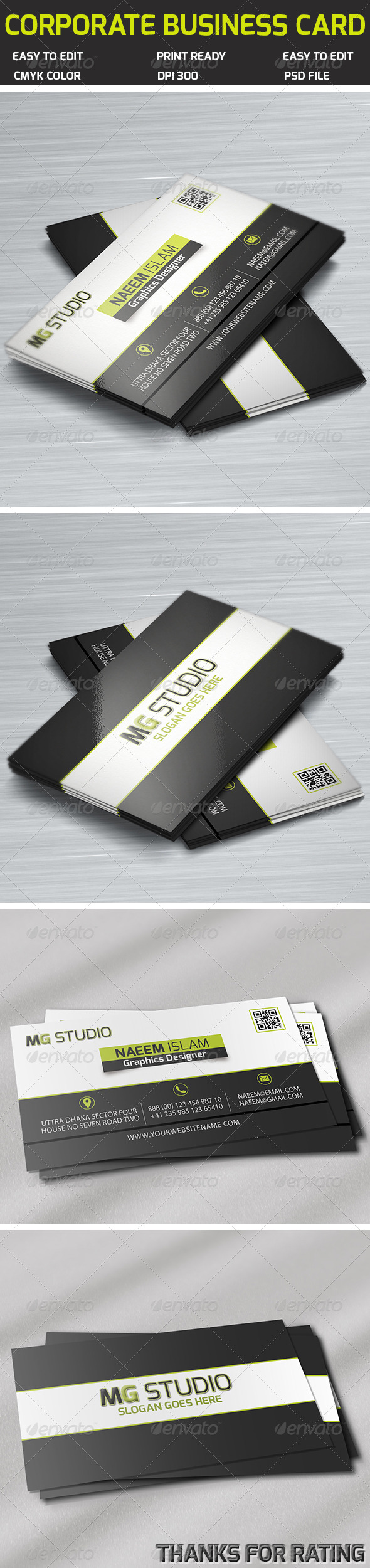 Corporate business card features easy to edit optimized for corporate business card features easy to edit optimized for printing 300 dpi cmyk color mode 352 inch dimension 025 bleed reheart Images