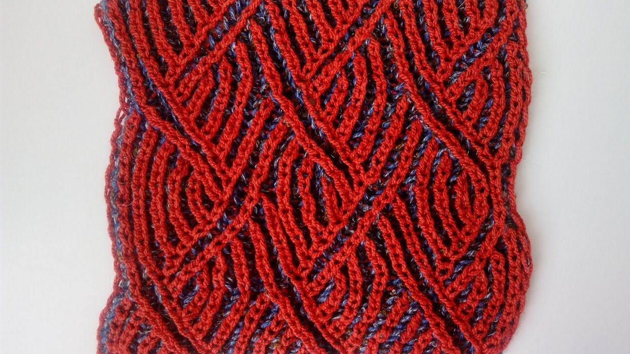 Two-color brioche zigzag pattern + free chart | Knitting | Pinterest ...