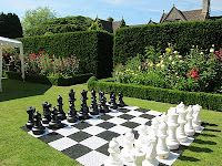 This Is What Every Garden Really Needs A Life Size Chess Board
