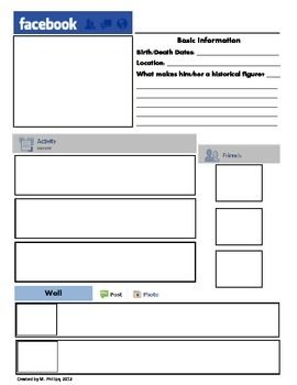 Printable Facebook Template Facebook Templates Higher Order Thinking Skills Templates