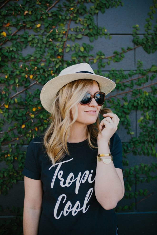 Keeping it Casual || Jeans and A Tee for Summer || Straw Fedora Hat + Warby Parker Sunnies