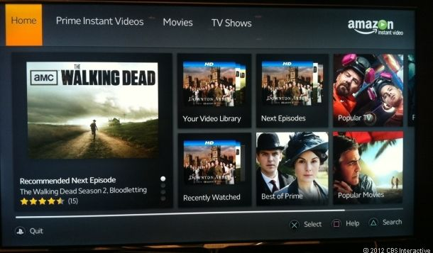 Amazon Instant Streaming Video App Comes To Sony Ps3 The Tech Journal Android Tv Sony Tv Instant Video
