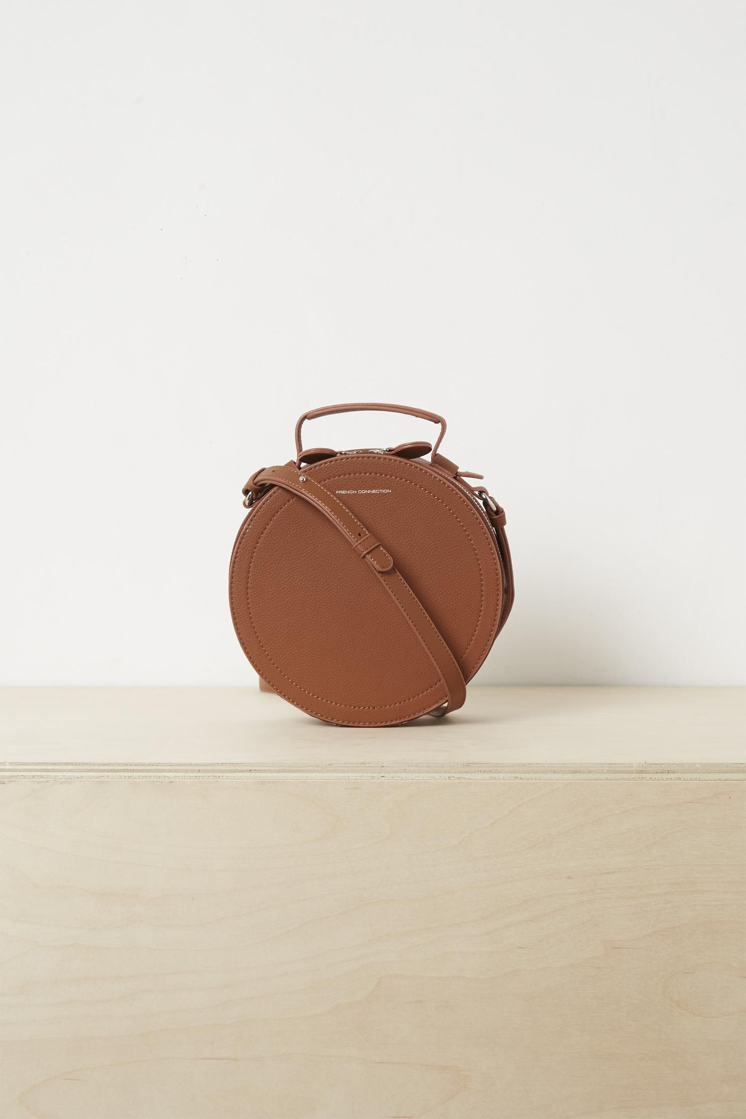 970b38f7e Trace Recycled Leather Crossbody Bag - Brown - French Connection Shoulder  bags