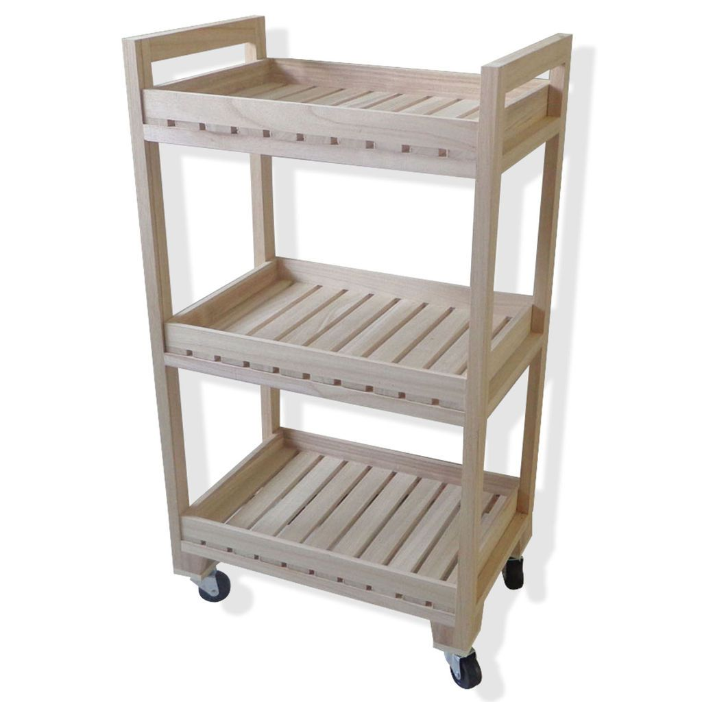 purchase the natural 3tier wood rolling cart by artminds at michaelscom