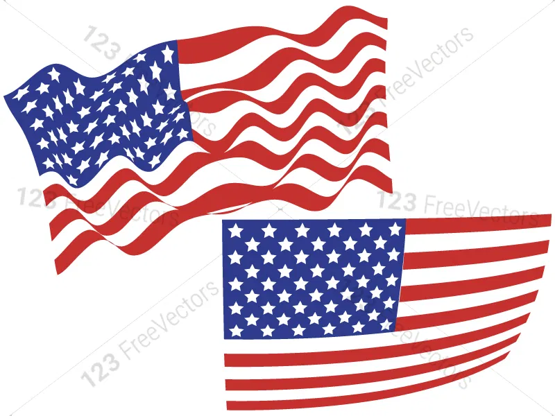Usa Flags Vector Pack In 2020 Flag Vector Usa Flag Flag