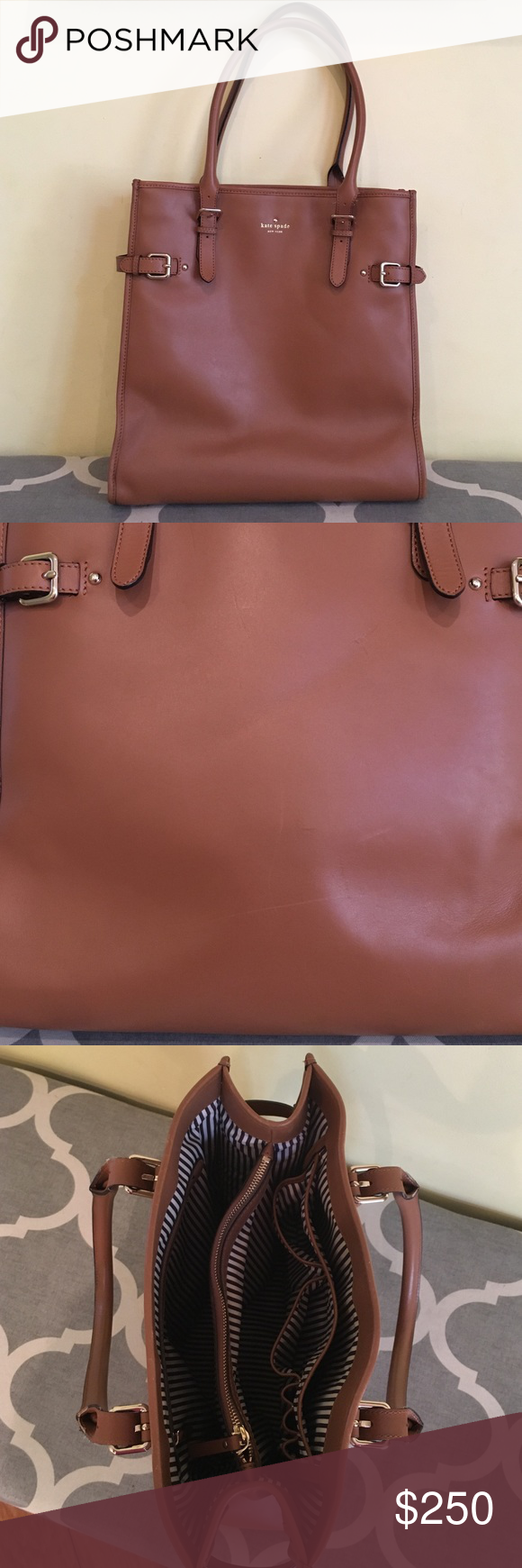 Kate Spade New York Jackson Used for work so it has some scratches and scuffs but still has a lot more use in it! See pictures for more details and make an offer! kate spade Bags Totes