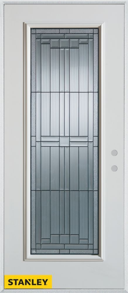 Marvelous 34 Inch X 80 Inch Architectural Patina Full Lite White Steel Entry Door With