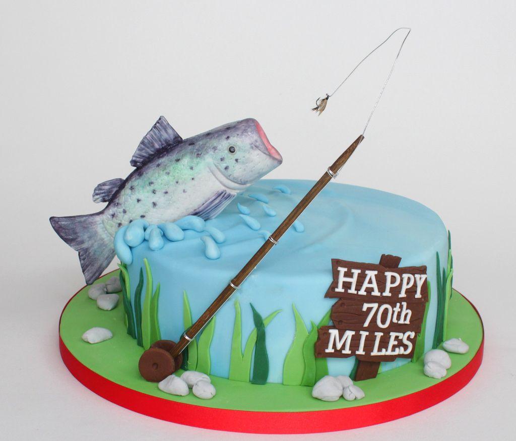 salmon fishing cake Fruit cakes Salmon and Fishing cakes