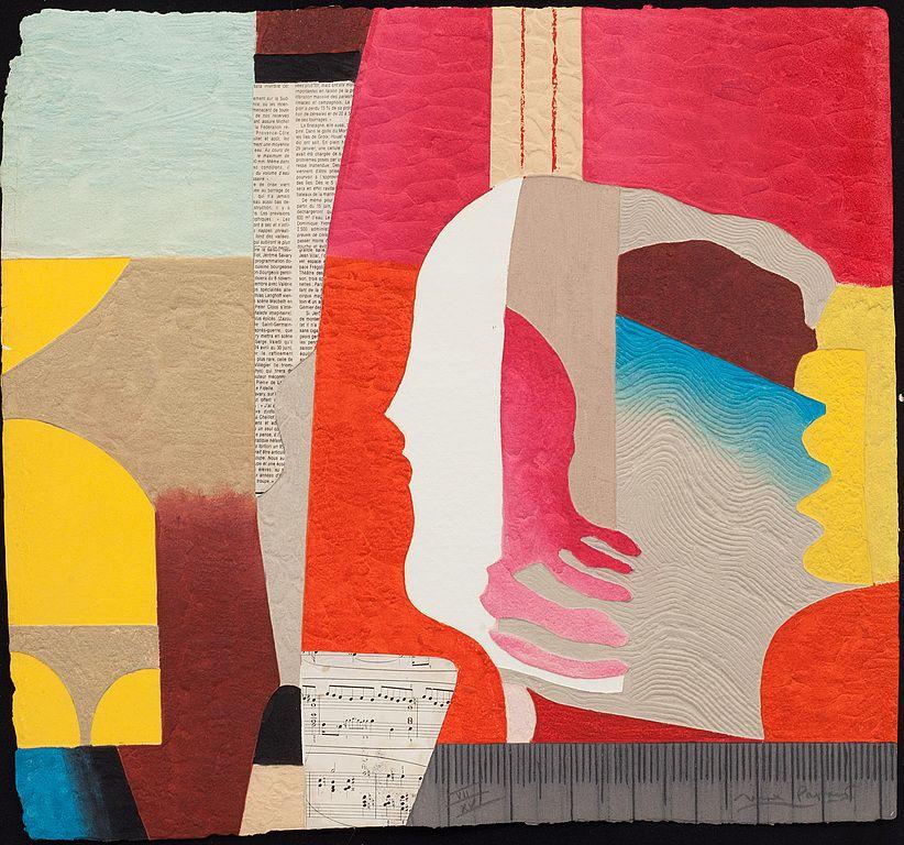 Max papart carborundum med collage signerad och numrerad for Minimal art resumen