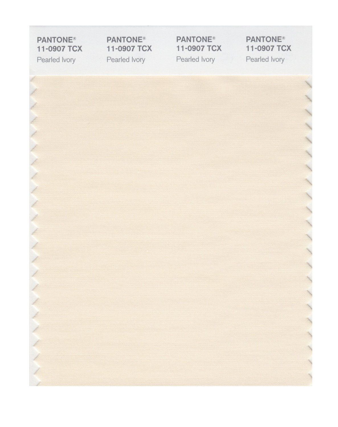 Pantone Smart Swatch 110907 Pearled Ivory Colour Trend