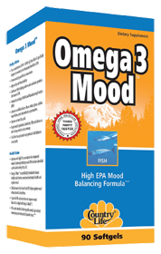 By far the best omega-3 supplement for mood - optimal quantity per capsule (much higher than others). Country Life Omega 3 Mood, 90.0 Each , Softgels