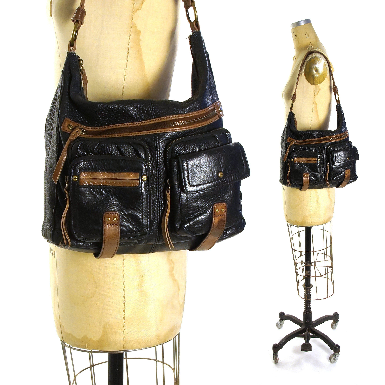 8d944b94f5 Black Leather Hobo Bag Vintage 90s Butter Soft Leather Shoulder Bag with  Pockets by The SAK Medium Sized by SpunkVintage on Etsy