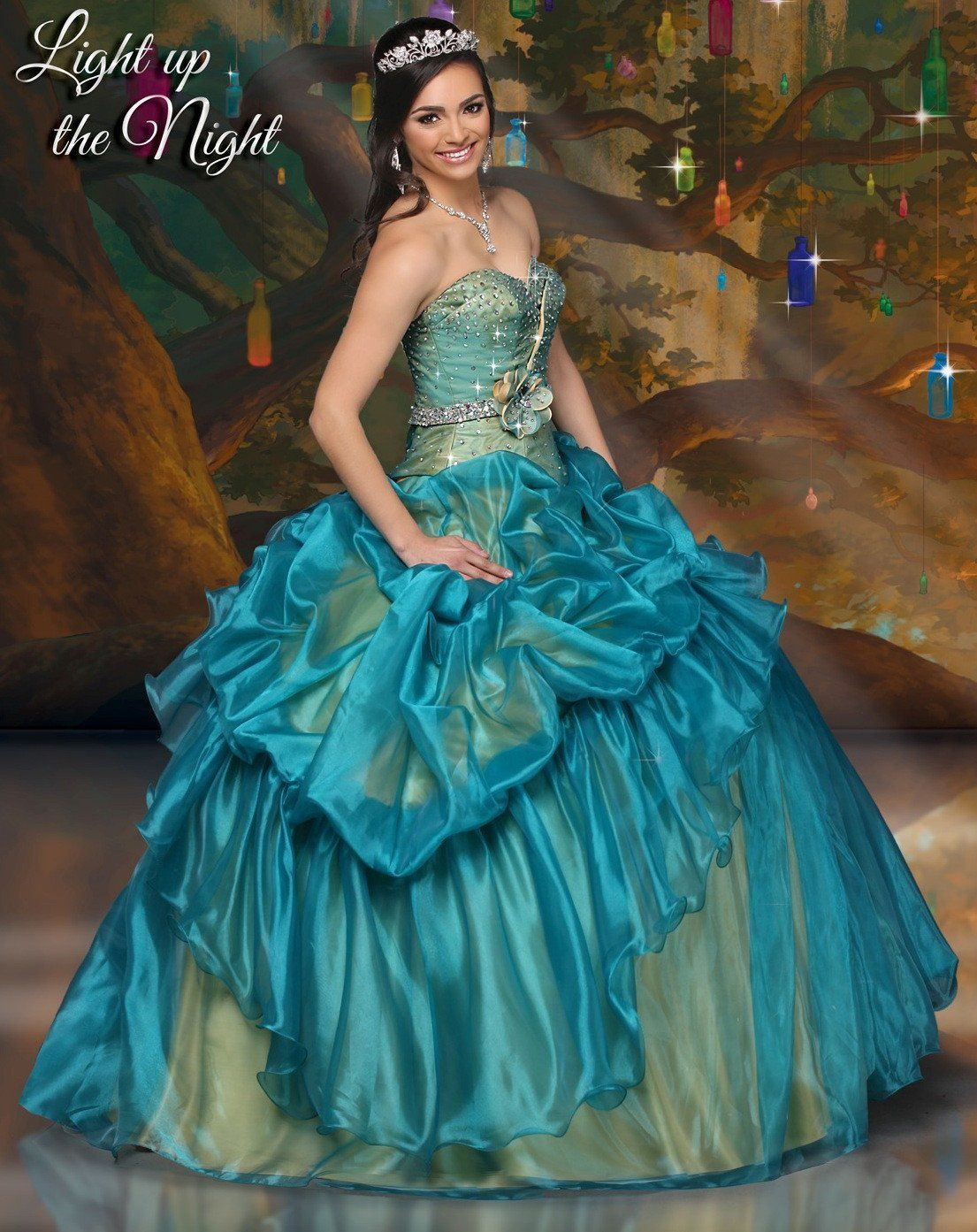 be8ca2f730 Disney Royal Ball Quinceanera Dress Tiana Style 41059