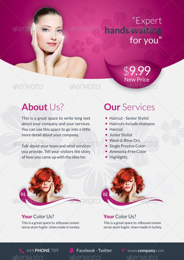 Beauty Saloon Brochure Template | Display | Pinterest | Brochure ...
