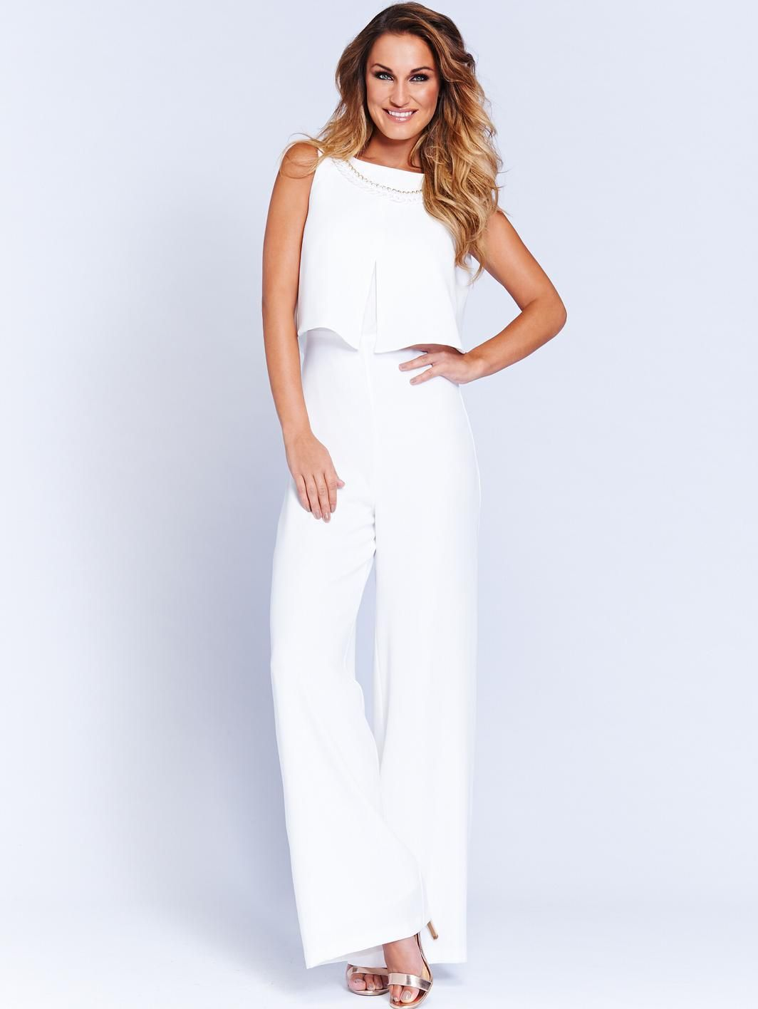 a65ebbfda81 White Sam Faiers Jumpsuit - simple
