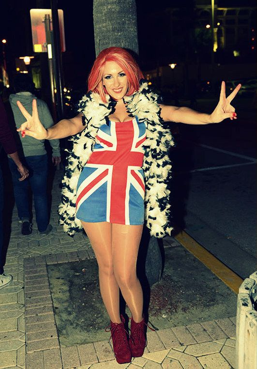 spice girl ginger spice halloween costume