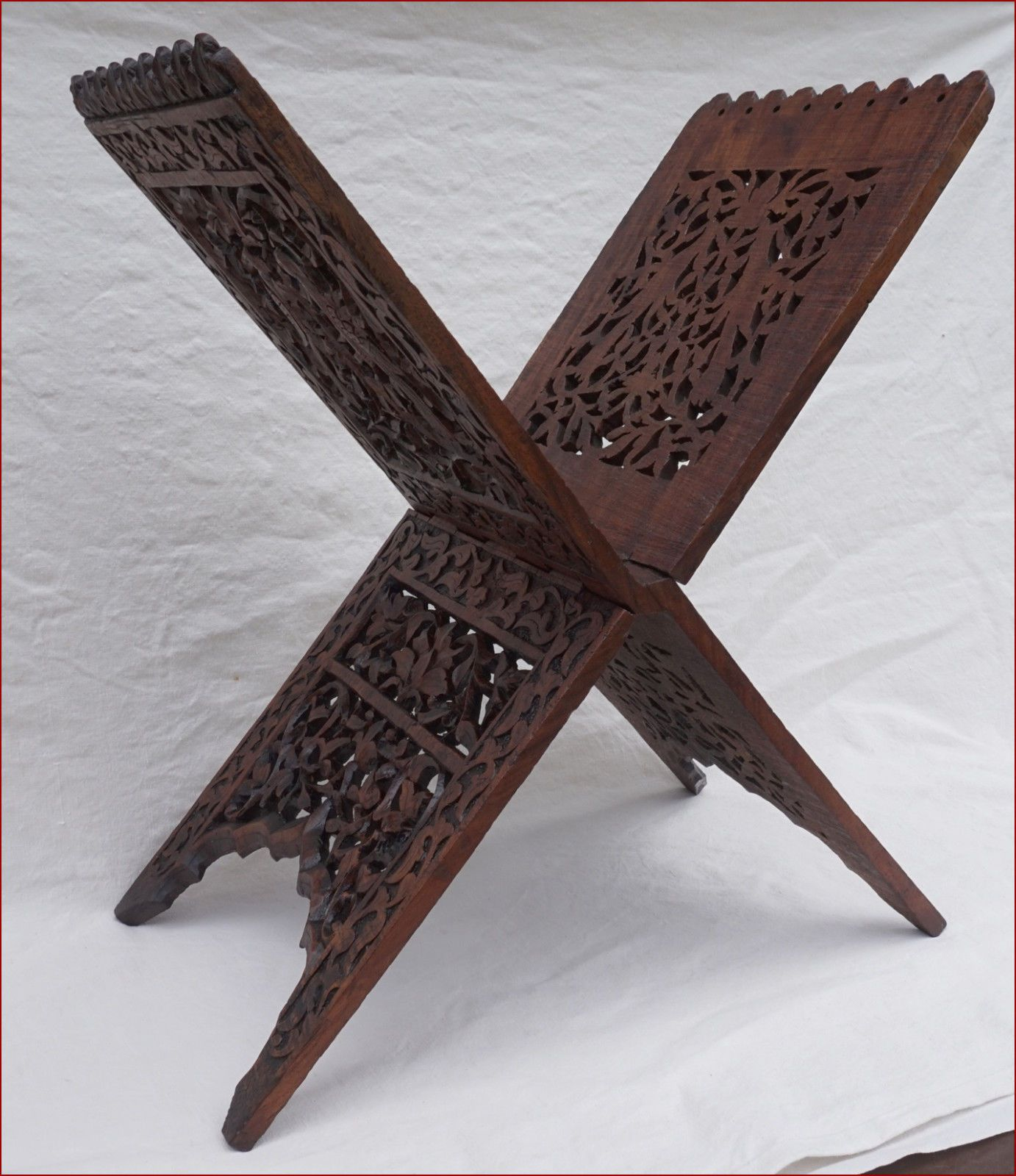 antique arabic islamic koran quran book stand holder rosewood