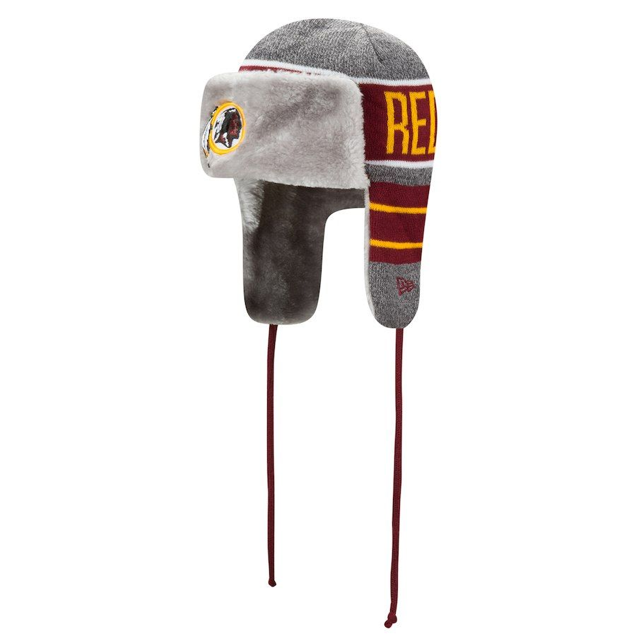 super popular b33a7 66e99 Men s Washington Redskins New Era Gray Frosty Trapper Knit Hat, Your Price    29.99