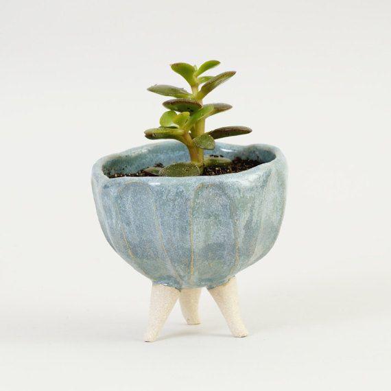 Turquoise Blue Ceramic Planter Contemporary Ceramics Pottery Planter Ceramic Plant Pot Ceramic Bowl Ceramic Plant Pots Pottery Planters Ceramic Planters