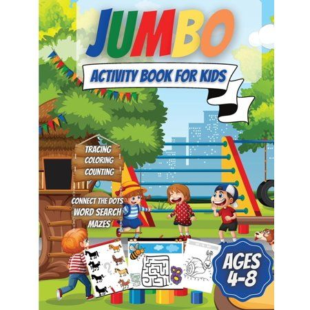 Kids will love this book!Let your kid's creativity run wild while having fun and learning at the same time!This is a fun jumbo activity book with over 200 activities.Fun book coloring book and activity for boys, girls, toddlers, and kids who love funny brain games, kids activities some as mazes, find differences, coloring by number, crosswords, copy the picture, puzzles, sudoku and more! Kids will love coloring them all more! Take this book with you on a trip or use in competitions for children'