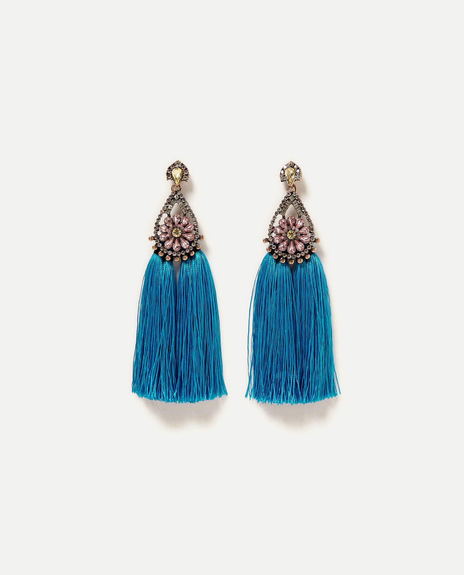 Image 1 Of Party Earrings With Tels From Zara