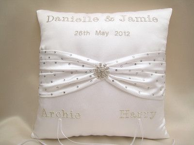 Cushion I Made For Glamour Model Danielle Lloyd S Wedding To Personalised Piped Mini Ring