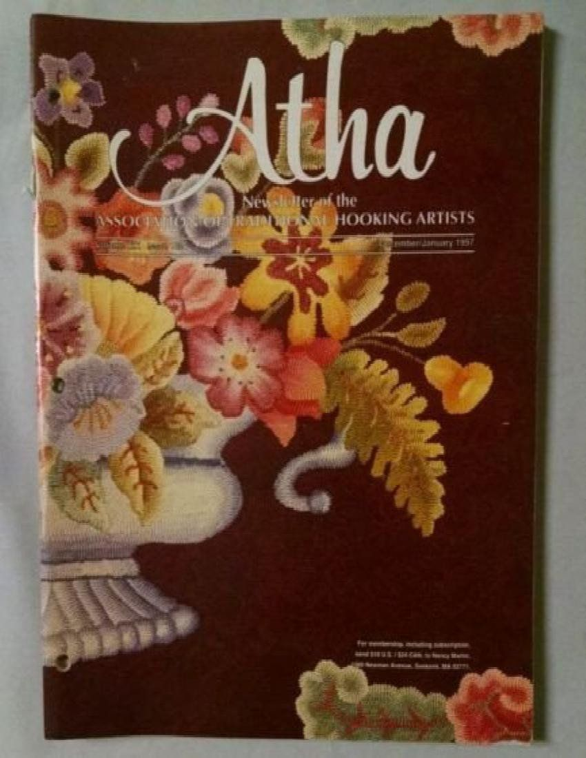 VTG December January 1997 Atha Newsletter Assn of Traditional Hooking Artist