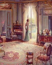 Victorian Ladies – Green Dress by John OBrien art print poster