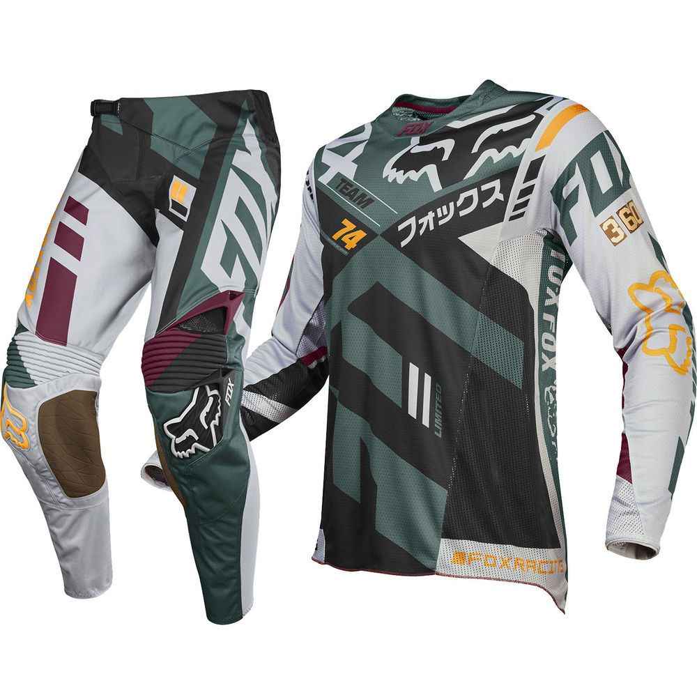 Fox Racing NEW 2016 Mx LE 360 San Diego Divizion Grey Green Motocross Gear  Set fdd7c1b7c