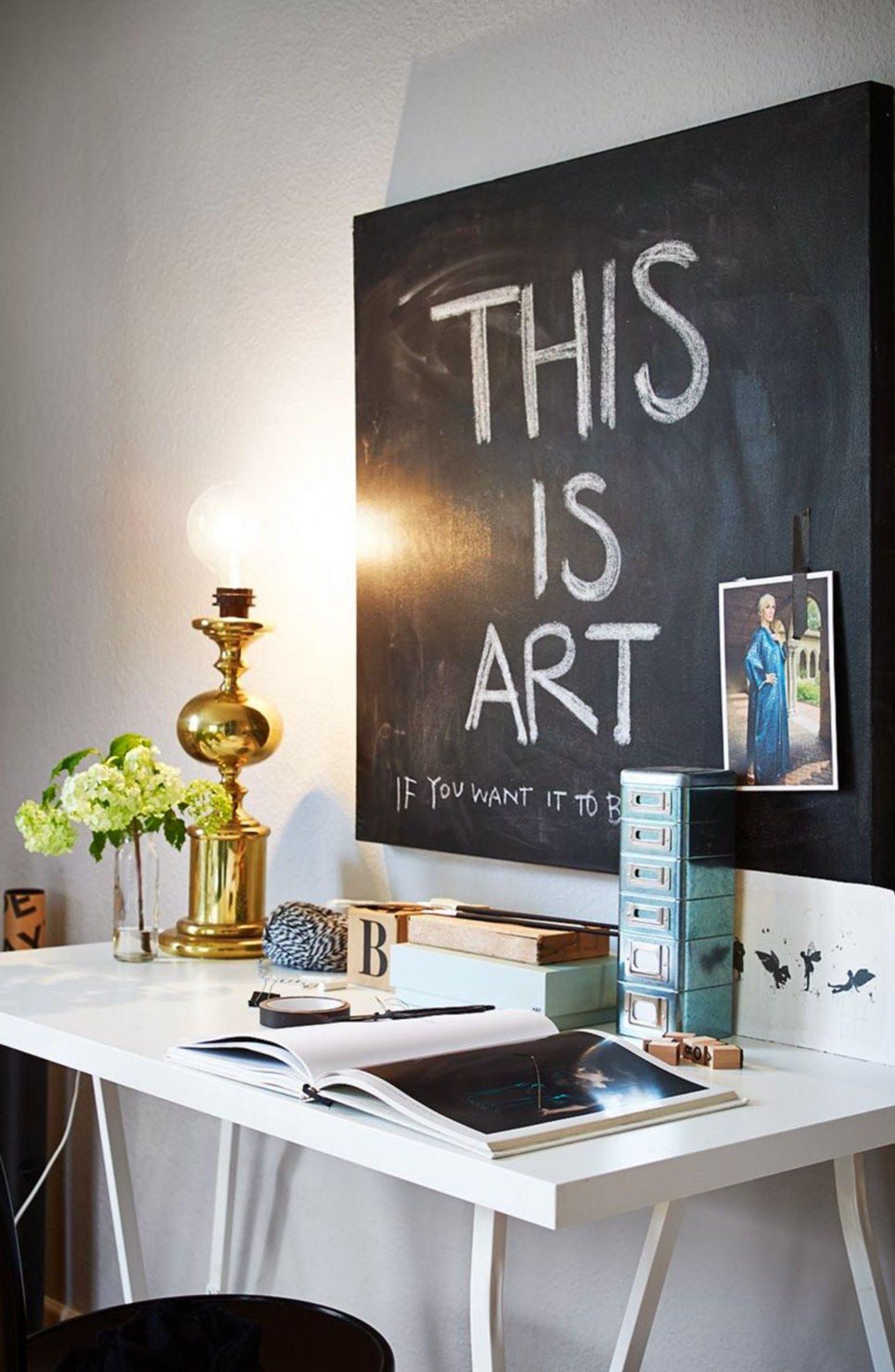 Idee Pour Peindre Un Tableau déco peinture tableau noir : 8 idées à la craie