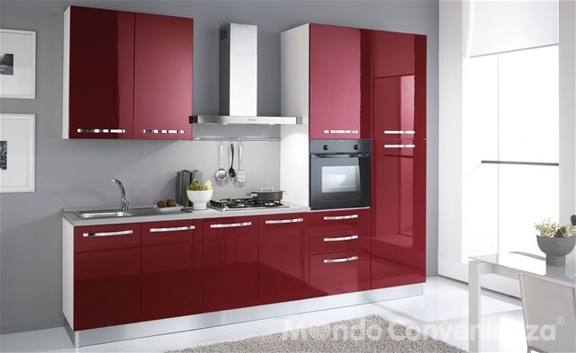 Katy - Cucine - Composizioni bloccate - Mondo Convenienza, i buy - Photo Cuisine Rouge Et Grise