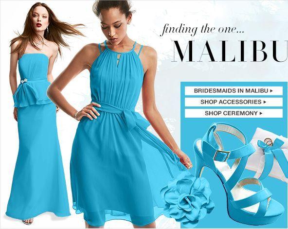 David S Bridal Malibu Blue Color