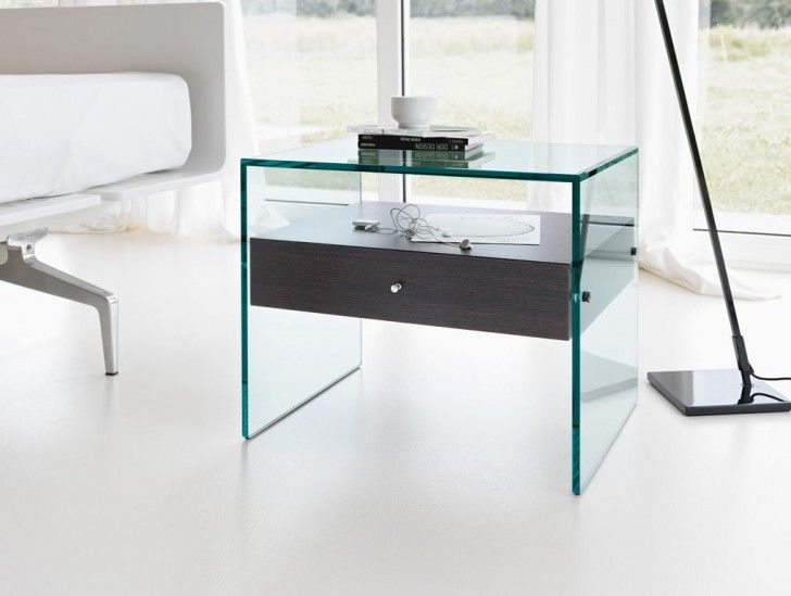 Furniturecool bedside tables for lamp stand or shelves amazing furniturecool bedside tables for lamp stand or shelves amazing clear glass bedside table complete with single drawers watchthetrailerfo