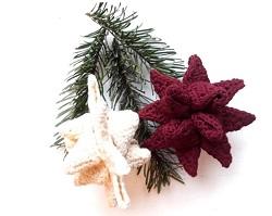 Sødflettet jule-stjerne- hækleti bomuldgarn. Gratis opskrift hentes under fanebladet download. Designet af Hittepaa. Følghende på instagram -> #hækletjul