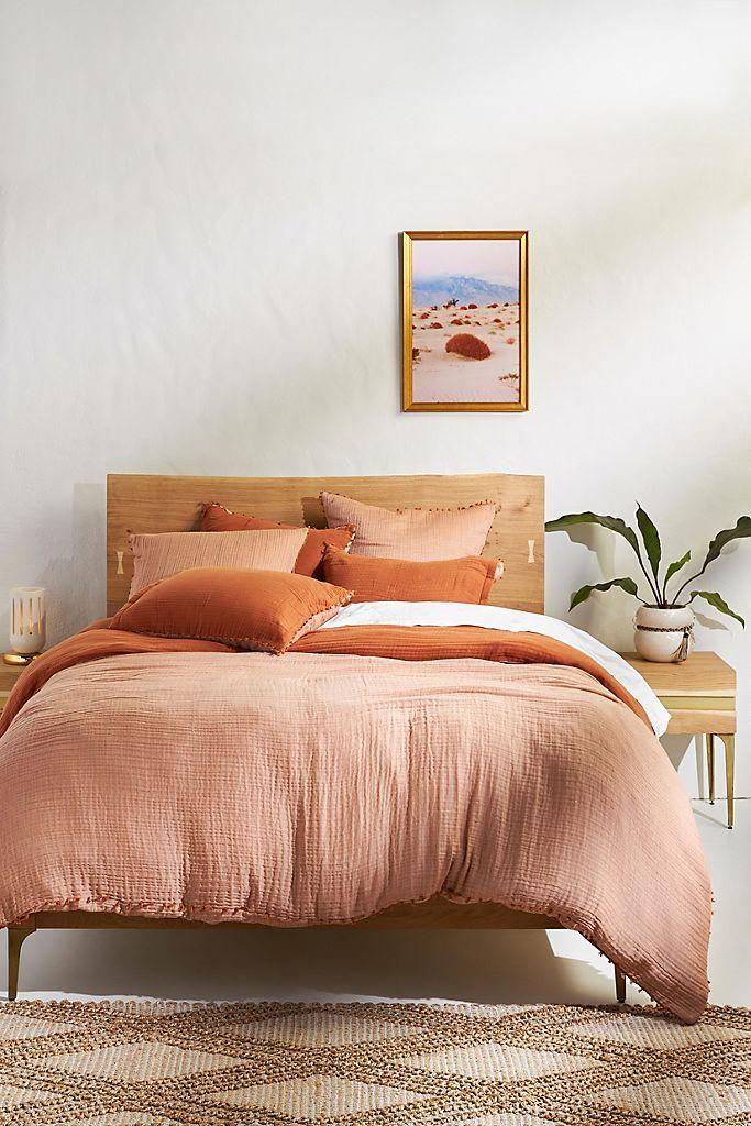 Reversible Airy Gauze Duvet Cover in 2020 Home decor
