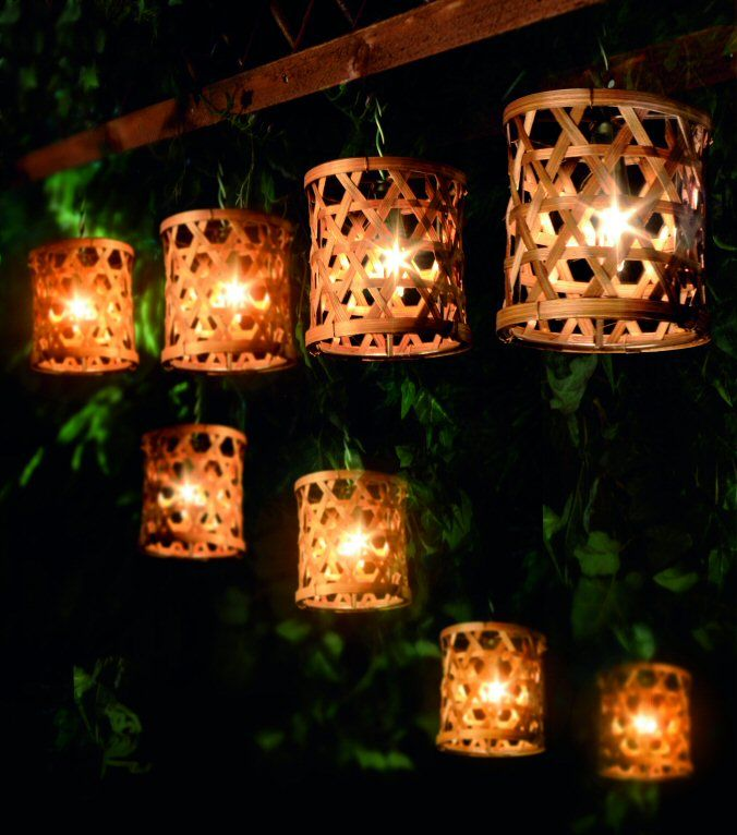 I Just Love The Weblike Design Of This Outdoor Decorative Lighting My Sister Is Redecorating Her Garden And She Has Told Me Been Looking For