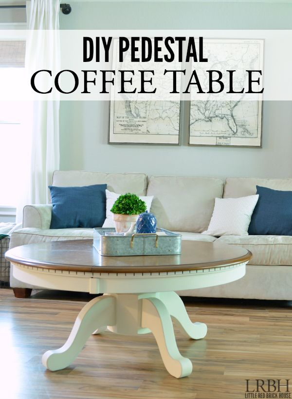 See How To Turn A Kitchen Table Into Diy Pedestal Coffee With This Great Tutorial