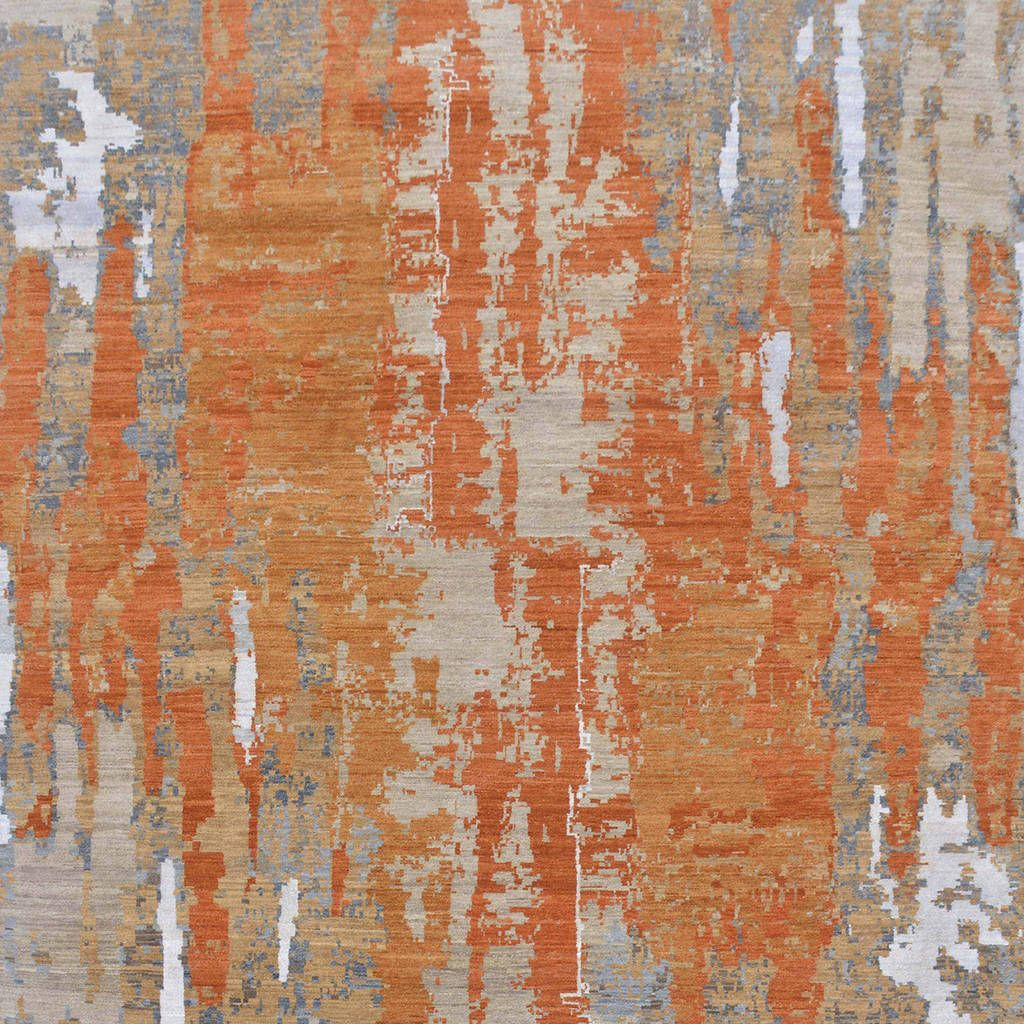 Modi Is An Eclectic Range Of Designer Rugs That Slightly Abstracted Yet Modern This Uses A Colour Pop Like Orange Rug Against Neutral