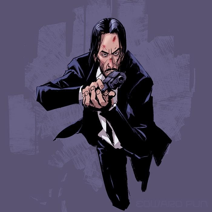 Edward Pun Art Blog John Wick John Wick Movie Keanu Reeves John Wick