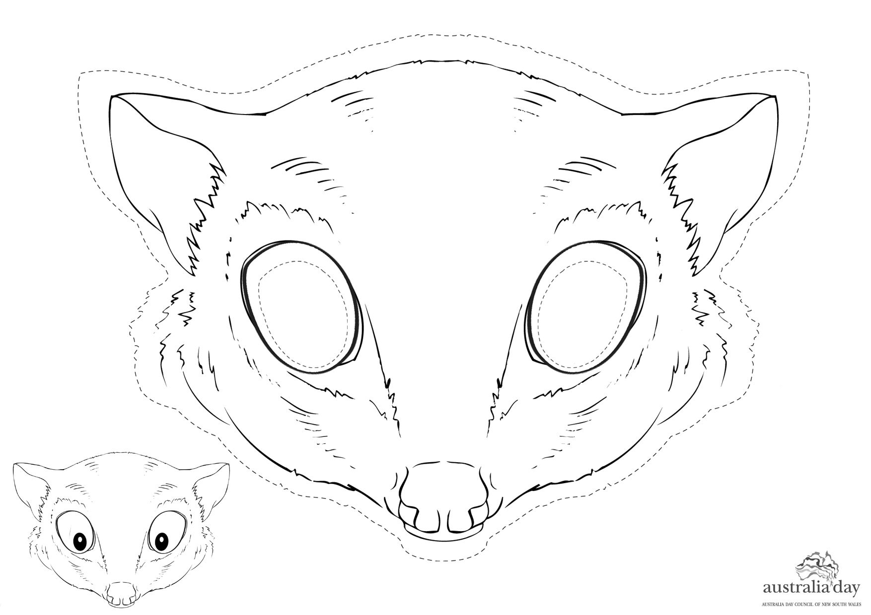 Early Finishes Can Make A Possum Magic Mask Animal Coloring