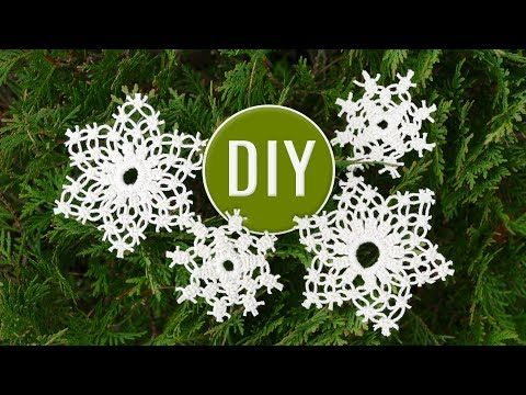DIY EASY Macrame ❄️ Snowflake Ornament 🎄 2 Patterns For Beginners 🎄 Holiday Crafts - YouTube