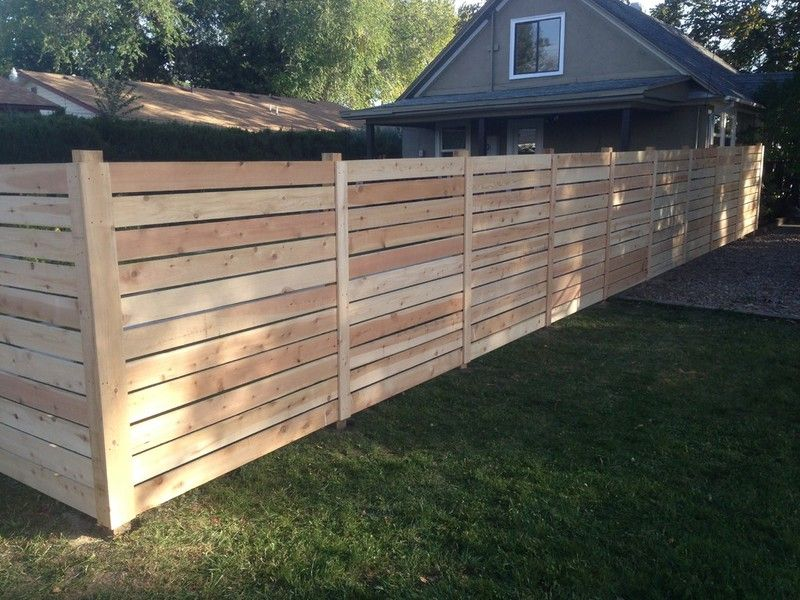 Horizontal Boards Wood Privacy Fence