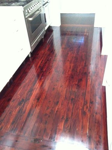 Cypress Pine Floorboards Stained With Jarrah Pine Floors