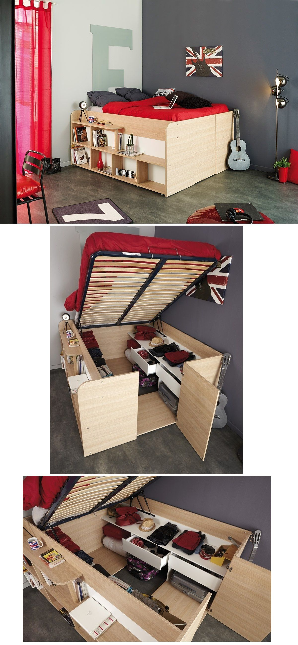 Space Up Bed And Storage Space Up Clean Bedroom Storage Spaces